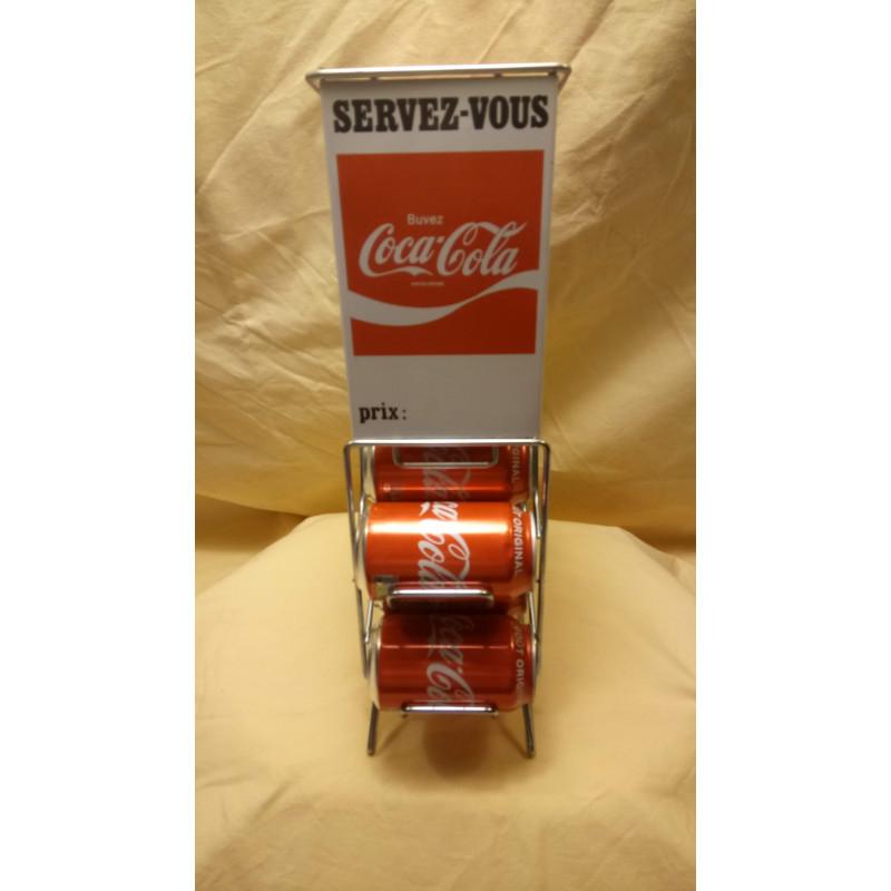 Distributeur collector de canette de Coca Cola