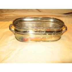 bol ou plat à sauce argenté