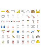 Divers éléments qui peuvent être utilisés pour le bricolage